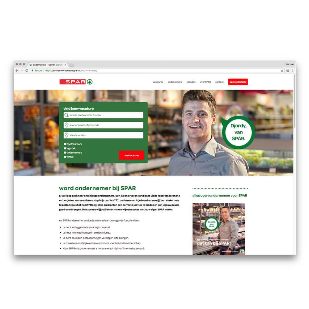 'werken bij'-site Spar